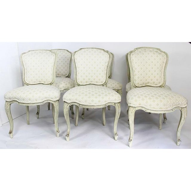 Late 20th Century Vintage Upholstered Dining Chairs- Set of 6 For Sale - Image 13 of 13