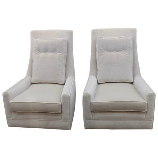 Vintage High Back Lounge Chairs- A Pair For Sale