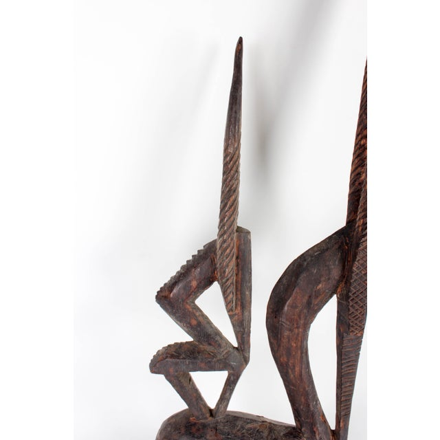 Hand-Carved African Antelope Sculpture For Sale - Image 5 of 11
