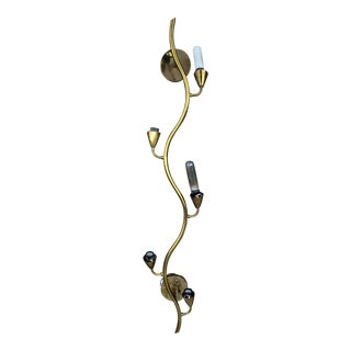 Mid-Century Brass Squiggle Wall Light