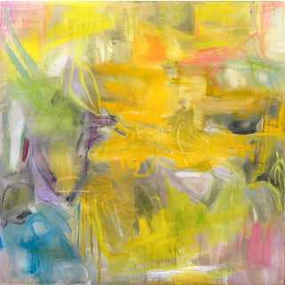 """""""South of France"""" by Trixie Pitts Abstract Expressionist Oil Painting For Sale"""
