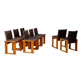 Afra & Tobia Scarpa Set MidCentury Chair for Molteni, Monk Series. 1970s For Sale