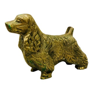 Vintage Gold Brass Dog