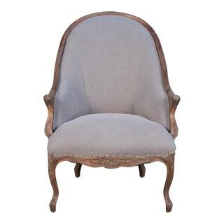 Leslie Salon Chair, Rock Gray For Sale