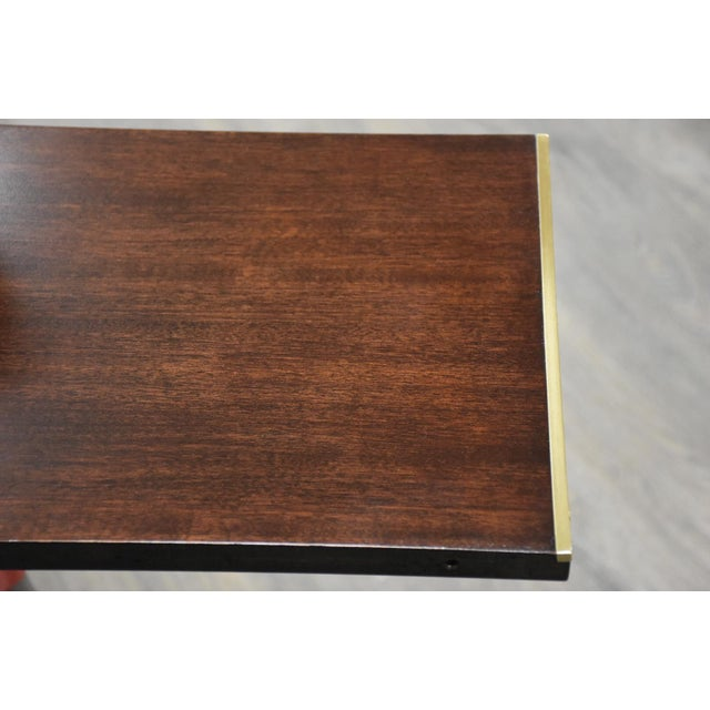 Gold Paul McCobb Mahogany and Brass Dining Table For Sale - Image 8 of 13