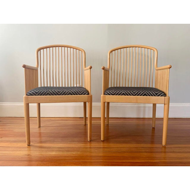 Wood 1980s Vintage Stendig Andover Minimalist Arm Chairs- A Pair For Sale - Image 7 of 7