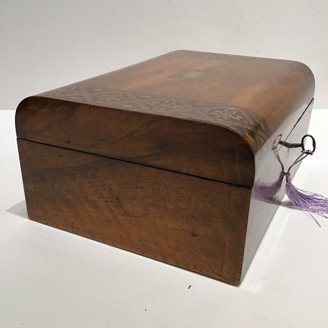 English 19th Century English Rosewood Turnbridge Box For Sale - Image 3 of 7
