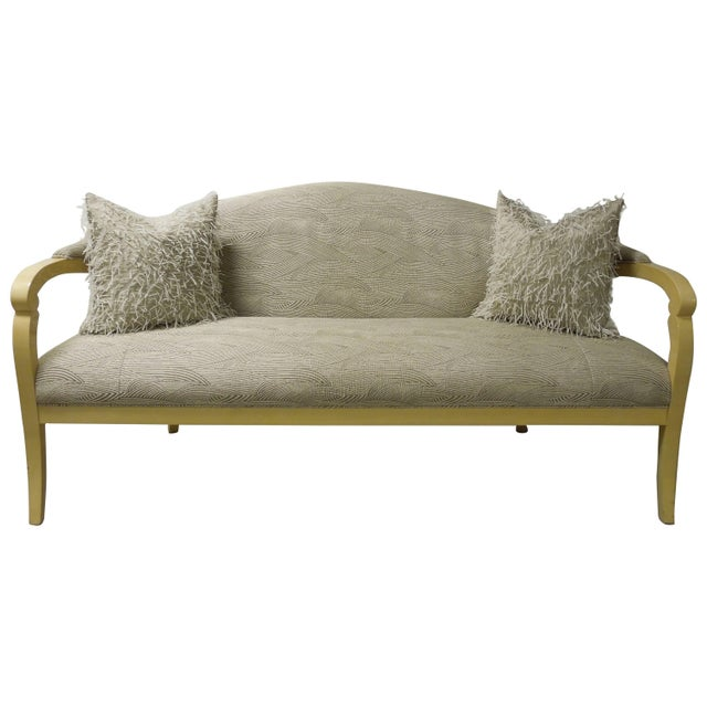"""Taupe Sally Sirkin Lewis for J Robert Scott """"Deanna"""" Sofa For Sale - Image 8 of 8"""