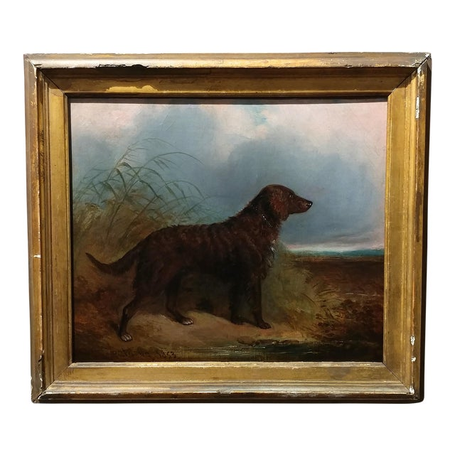 1853 Charles Bilger Spalding Irish Setter Original Oil Painting For Sale