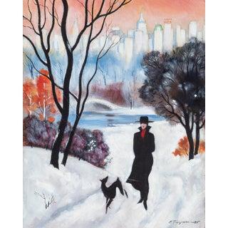 Erik Freyman, Winter Walk, Acrylic For Sale