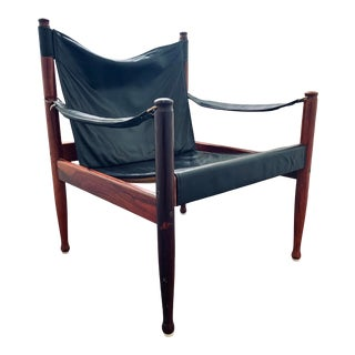 Mid-Century Modern Erik Worts for Niels Eilersen Safari Chair For Sale