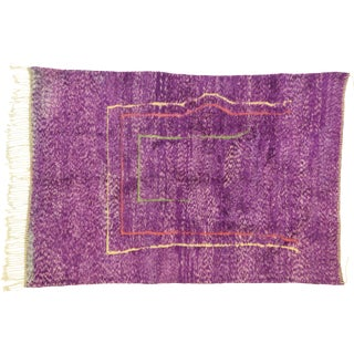 Purple Berber Contemporary Moroccan Rug - 06'10 X 10'00 For Sale