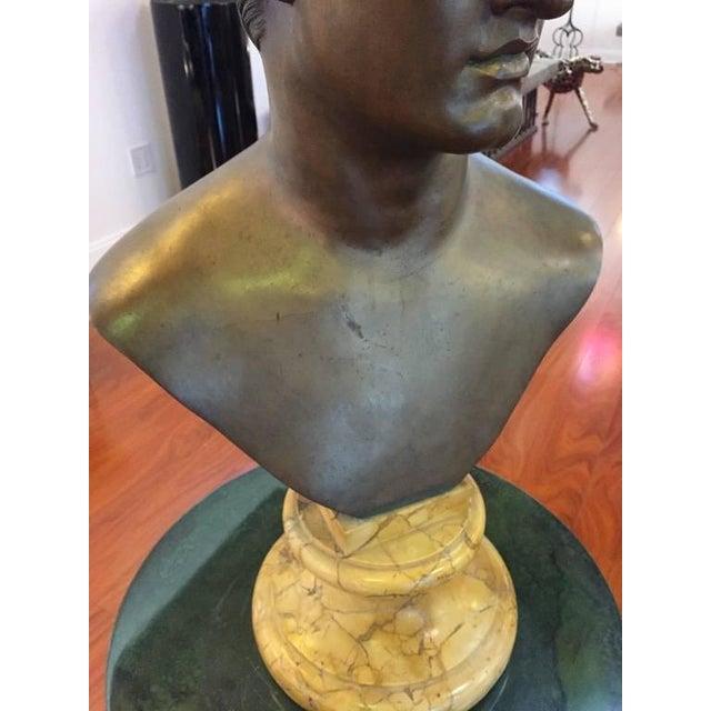1906 Cesar Sab De Angelis Fils Naples Bronze Bust - Image 6 of 10