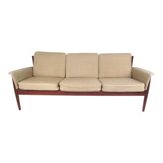 Scandinavian Vintage Modern Teak Sofa by Grete Jalk For Sale