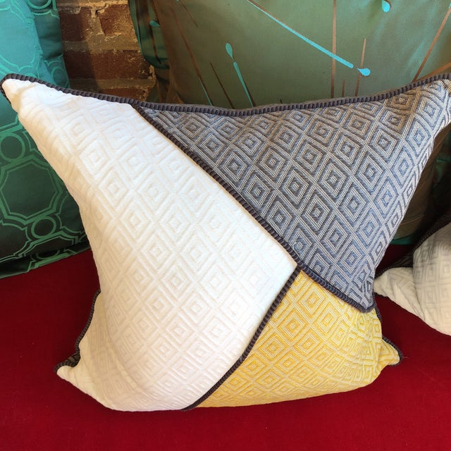 Custom Pillows in Jim Thompson Outdoor Fabric - A Pair - Image 2 of 9