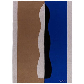 Wayne Pate - Abstract Cashmere Blanket, 51' X 71' For Sale