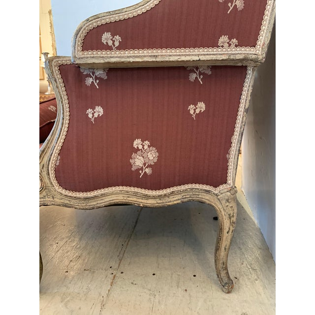 Rose Tarlow Gorgeous French Louis XV Club Chair Dressed Up in Rose Tarlow Fabric For Sale - Image 4 of 11