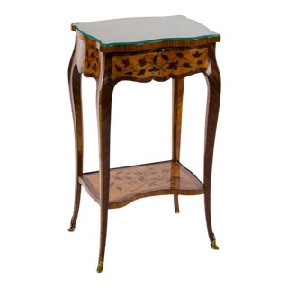 18th Century French Marquetry Table For Sale