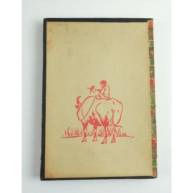 1920s Chinese Block Print on Stationary For Sale - Image 4 of 6