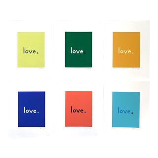 """Contemporary """"Primary - Love"""" Giclee Prints by Neicy Frey - Set of 6 For Sale"""
