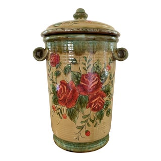 English/French Country Decorative Canister For Sale