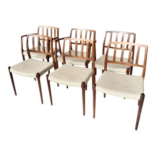1970s Mid-Century Danish Dining Chairs - Set of 6 For Sale