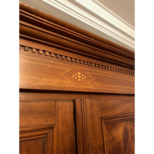 Brown 19th Century Walnut Armoire For Sale - Image 8 of 13