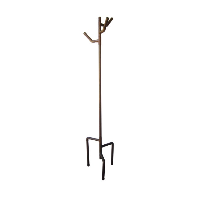 Modernist Copper Coat Rack Hat Tree - Image 1 of 11