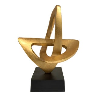 Arteriors Modern Gold Leaf Finished Rubicon Sculpture For Sale