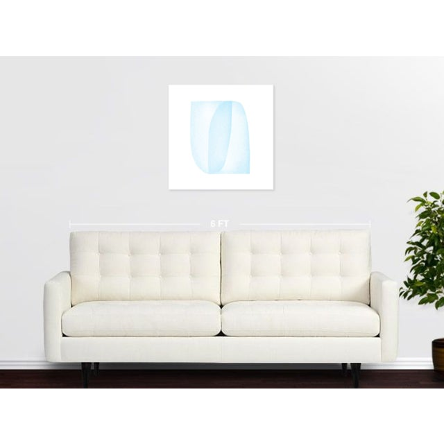 Abstract Blue Structure: Soft Geometry by Jessica Poundstone For Sale - Image 3 of 3