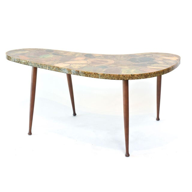 Italian Modern Specimen Marble, Resin and Walnut Low Table, Aldo Tura For Sale - Image 9 of 10
