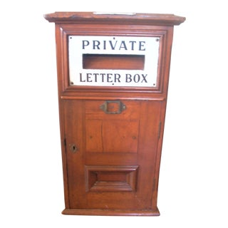 1920s Wooden 'Private Letter Box' For Sale