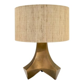 Arteriors Modern Antique Brass Finished Sculptural Stelling Table Lamp For Sale