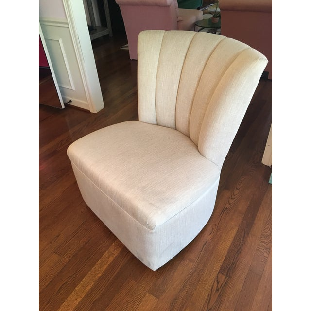 Channel Back Swivel Chair - Image 2 of 3