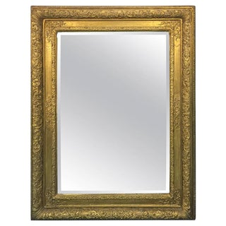 ANTIQUE 19TH CENTURY FRENCH WALL MIRROR WITH BEAUTIFUL ORNATE FRAME For Sale