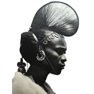 Double Sided 1952 Photogravure African Woman Portrait For Sale