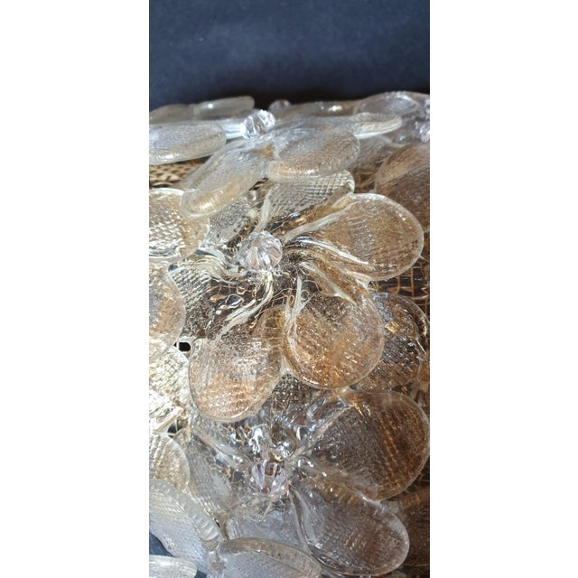 Mid-Century Modern Murano Glass Gold Flower Sconces by Barovier - a Pair For Sale - Image 9 of 11