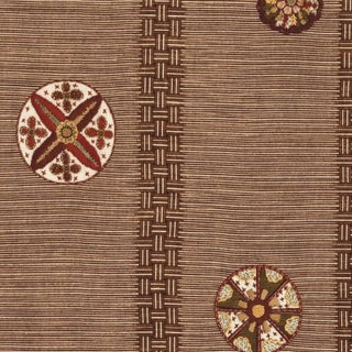 Boho Chic Jed Johnson Medallion Linen Designer Fabric by the Yard Preview