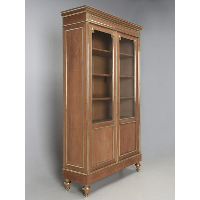 Antique French Louis XVI Mahogany Bookcase For Sale - Image 4 of 12