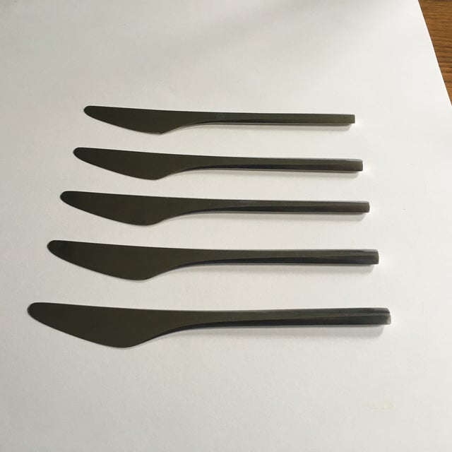 George Jensen Prism Stainless Knives - Set of 5 For Sale - Image 5 of 5
