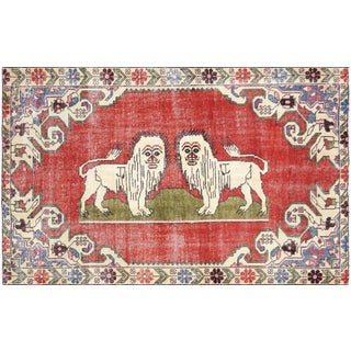 "Nalbandian - 1960s Turkish Oushak Rug - 4'4"" X 6'8"" For Sale"