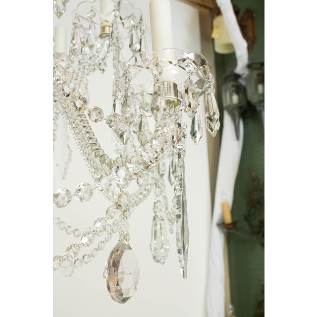 Martinez y Ortz Crystal Chandelier For Sale In Boston - Image 6 of 9