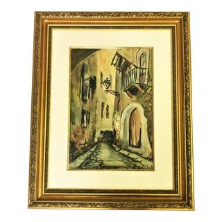 Signed Original Watercolor by Elisée Maclet (French, 1881-1962) For Sale