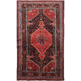 Vintage Mid-Century Persian Rug - 3′11″ × 6′9″ For Sale
