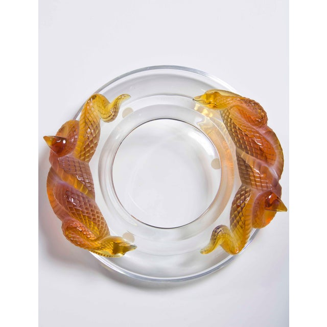 "Contemporary 1990s Vintage Lalique ""Serpents"" Coupe For Sale - Image 3 of 4"