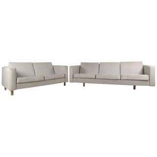 Mid-Century Hans Wegner Sofa and Loveseat For Sale