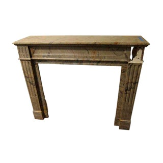 19th Century Louis XVI French Marble Mantel For Sale