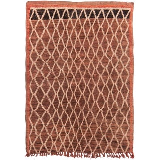 Brown Transitional Geometric Kilim - 2′11″ × 4′9″ For Sale