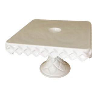 Milk Glass Cake Stand For Sale