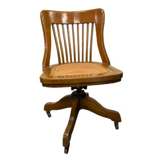 1920s Antique Milwaukee Desk Chair For Sale